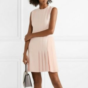 THEORY ADMIRAL PLEATED SHORT PALE PINK DRESS 2